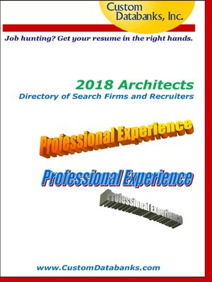 cover image of 2018 Architects Directory of Search Firms and Recruiters