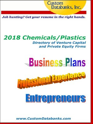 cover image of 2018 Chemicals/Plastics Directory of Venture Capital and Private Equity Firms