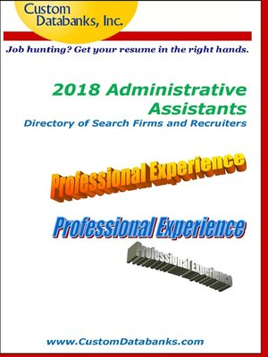 cover image of 2018 Administrative Assistants Directory of Search Firms and Recruiters