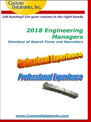 cover image of 2018 Engineering Managers Directory of Search Firms and Recruiters
