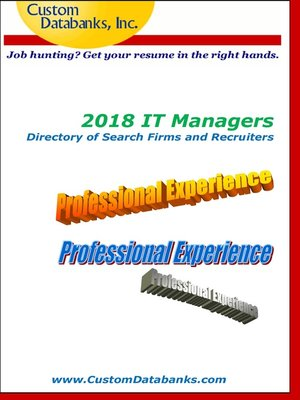 cover image of 2018 IT Managers Directory of Search Firms and Recruiters