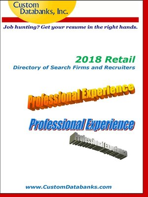 cover image of 2018 Retail Directory of Search Firms and Recruiters