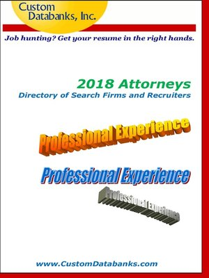 cover image of 2018 Attorneys Directory of Search Firms and Recruiters