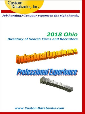 cover image of 2018 Ohio Directory of Search Firms and Recruiters