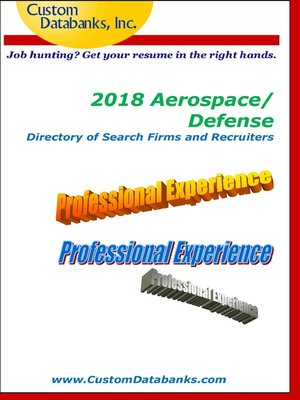 cover image of 2018 Aerospace/Defense Directory of Search Firms and Recruiters
