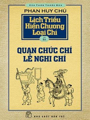cover image of Lịch triều hiến chương loại chí. T.3