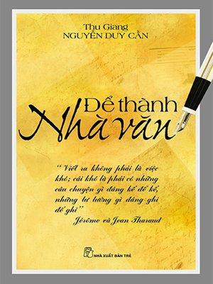 cover image of Để thành nhà văn