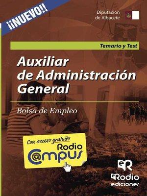 cover image of Auxiliar de Administración General. Bolsa de Empleo. Temario y Test
