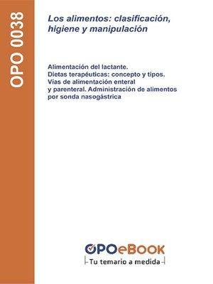 cover image of clasificación, higiene y manipulación