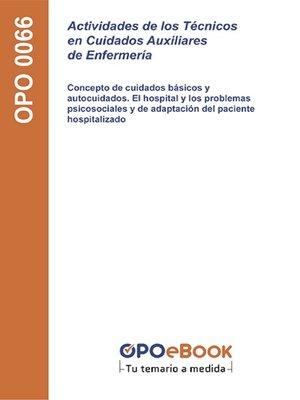 cover image of Actividades de los Técnicos en Cuidados Auxiliares de Enfermería