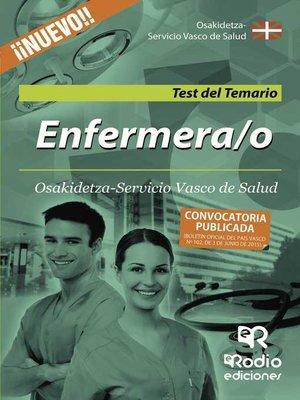 cover image of Enfermera/o de Osakidetza-Servicio Vasco de Salud. Test del Temario