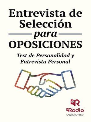 cover image of Entrevista de Selección para oposiciones. Test de personalidad y entrevista personal