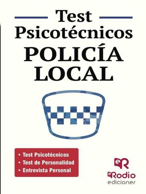 cover image of Test Psicotécnicos. Policía Local