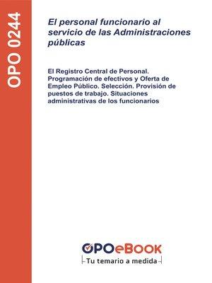 cover image of El personal funcionario al servicio de las Administraciones públicas