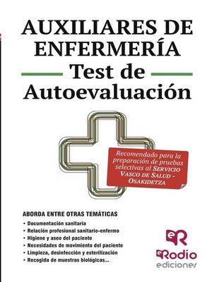 cover image of Auxiliares de Enfermería. Test de Autoevaluación. Osakidetza-Servicio Vasco de salud