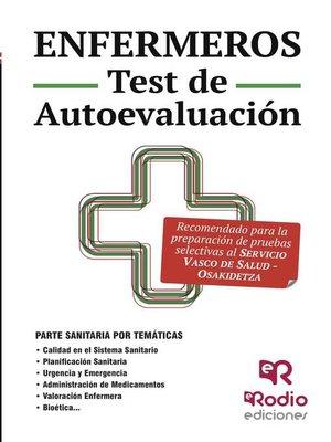 cover image of Enfermeros. Test de Autoevaluación. Osakidetza-Servicio Vasco de salud