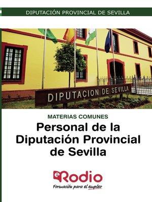 cover image of Materias Comunes. Personal de la Diputación Provincial de Sevilla
