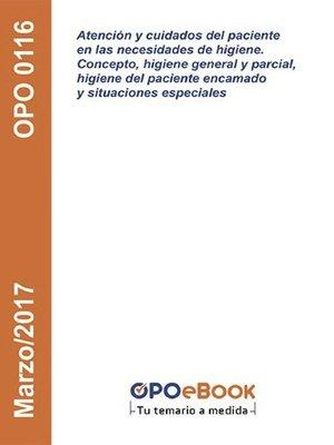 cover image of Atención y cuidados del paciente en las necesidades de Higiene