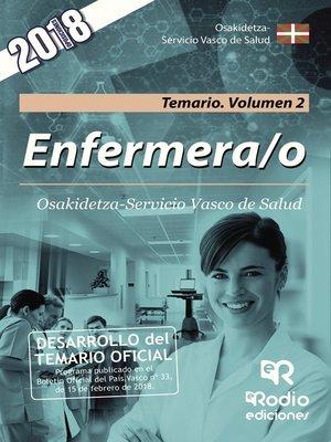 cover image of Enfermera/o. Osakidetza-Servicio Vasco de Salud. Temario. Volumen 2