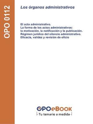 cover image of Los órganos administrativos