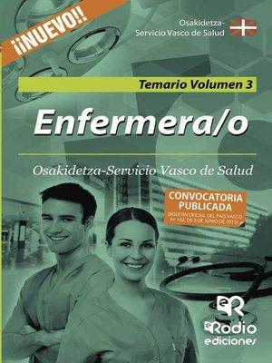 cover image of Enfermera/o de Osakidetza-Servicio Vasco de Salud. Temario. Volumen 3