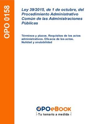 cover image of Términos y plazos