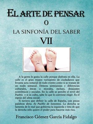 cover image of El arte de pensar VII