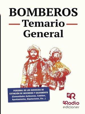 cover image of Bomberos. Temario General