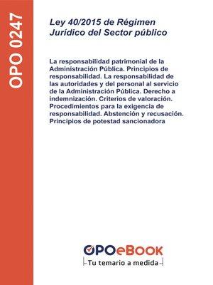 cover image of Ley 40/2015 de Régimen Jurídico del Sector Público