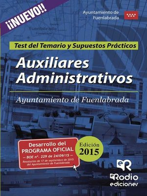 cover image of Auxiliares Administrativos del Ayuntamiento de Fuenlabrada. Test del Temario y Supuestos Prácticos