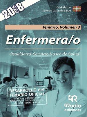 cover image of Enfermera/o. Osakidetza-Servicio Vasco de Salud. Temario. Volumen 3