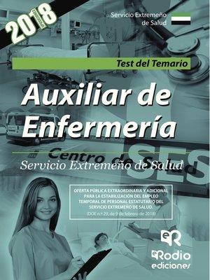 cover image of Auxiliar de Enfermería. Servicio Extremeño de Salud. Test del Temario