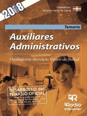 cover image of Auxiliares Administrativos. Osakidetza-Servicio Vasco de Salud. Temario