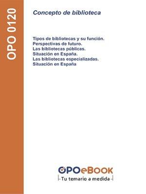 cover image of Concepto de biblioteca