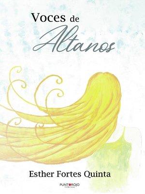 cover image of Voces de altanos