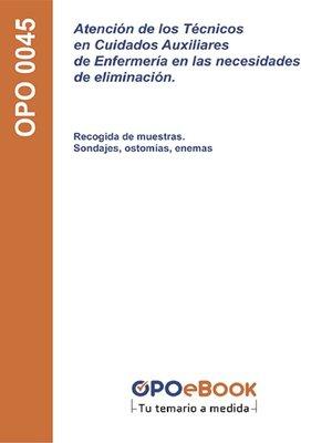 cover image of Atención de los Técnicos en Cuidados Auxiliares de Enfermería en las necesidades de eliminación