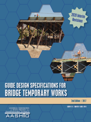 cover image of GUIDE DESIGN SPECIFICATIONS FOR BRIDGE TEMPORARY WORKS