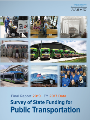 cover image of Survey of State Funding for Public Transportation Final Report 2019 - FY 2017 Data