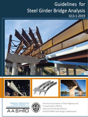 cover image of Guidelines for Steel Girder Bridge Analysis G13.1-2019