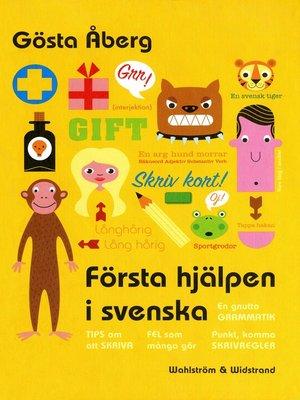 cover image of Första hjälpen i svenska