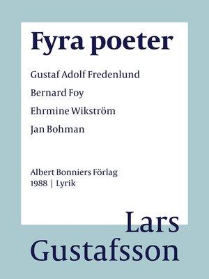 cover image of Fyra poeter