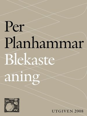 cover image of Blekaste aning