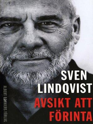 cover image of Avsikt att förinta
