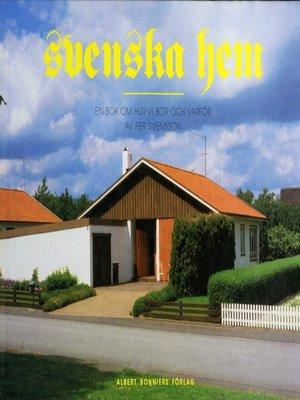 cover image of Svenska hem