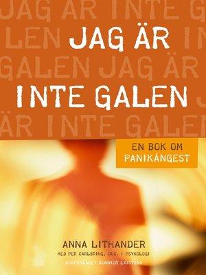 cover image of Jag är inte galen