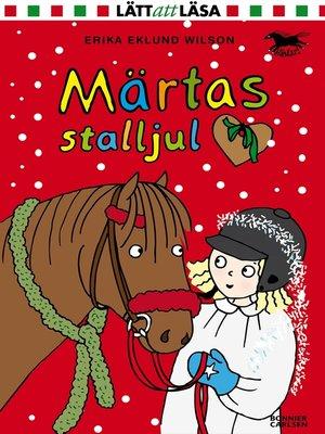 cover image of Märtas stalljul