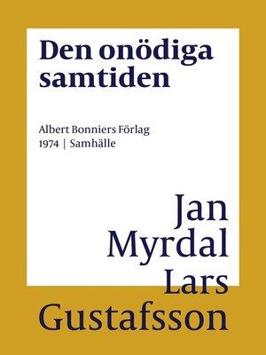 cover image of Den onödiga samtiden