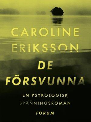 cover image of De försvunna