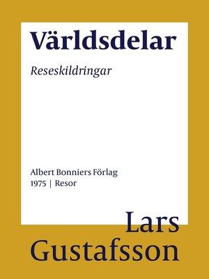 cover image of Världsdelar