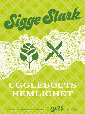cover image of Uggleboets hemlighet